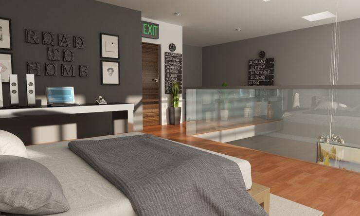 OLLIN ARQUITECTURA Small bedroom