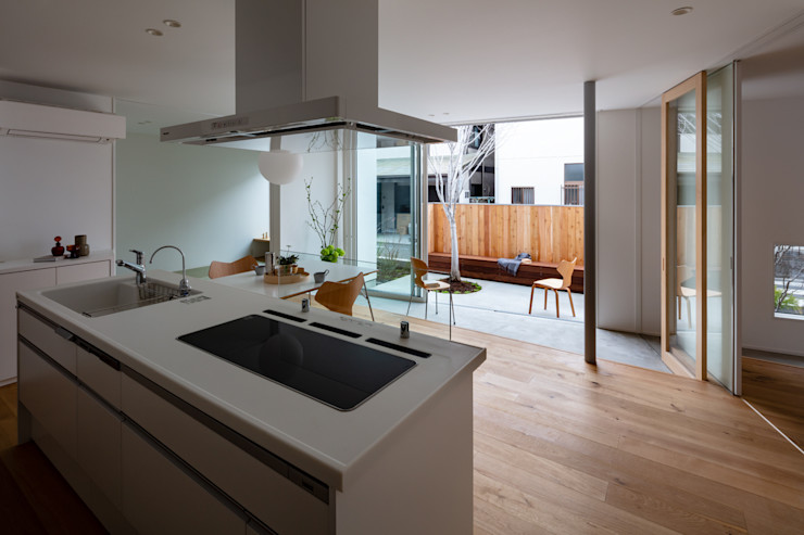 hm+architects 一級建築士事務所 Built-in kitchens White