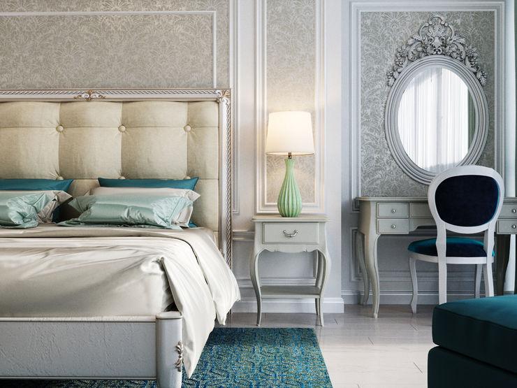Дизайн интерьера Киев|tishchenko.com.ua Small bedroom Сірий