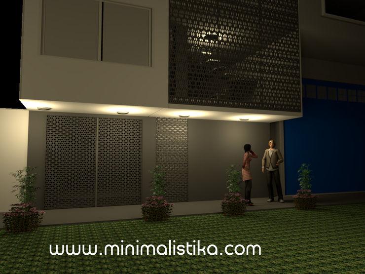 Minimalistika.com Rumah keluarga besar Metal Grey
