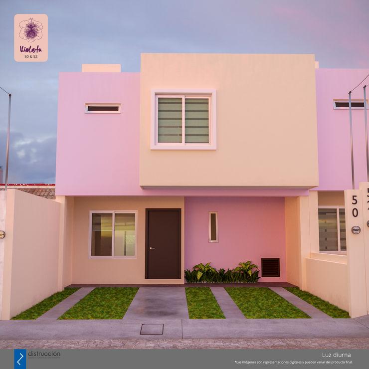 distrucción Modern houses