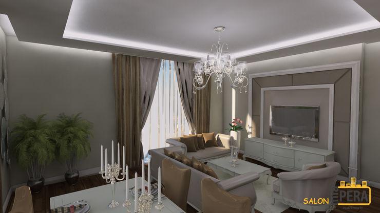 Miapera MİMARLIK Classic style living room Wood Beige