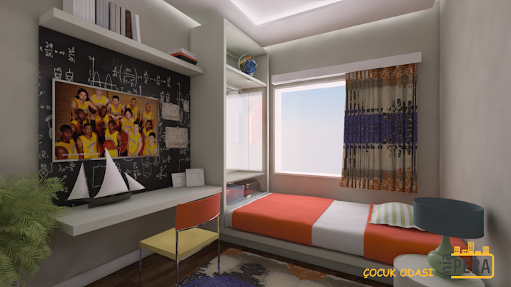 Miapera MİMARLIK Interior landscaping Textile Multicolored