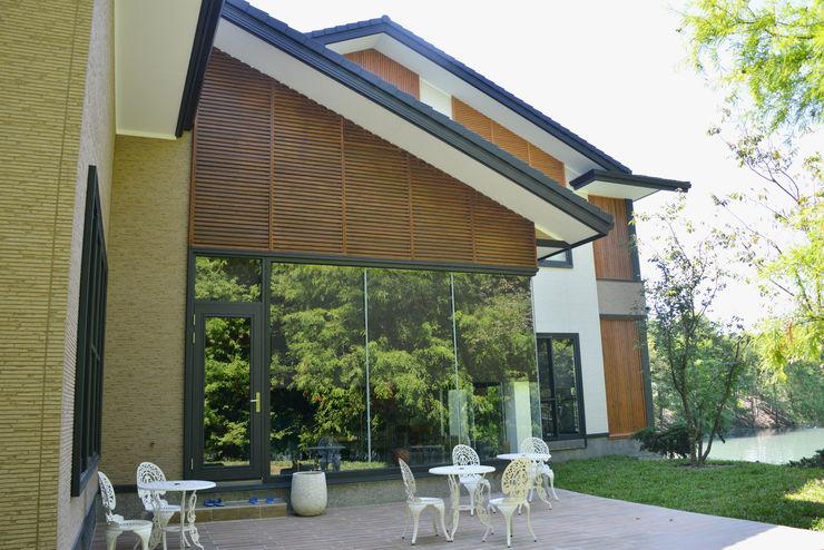 花蓮雲山水 鋼骨結構 翔霖營造有限公司 Commercial Spaces Iron/Steel Wood effect