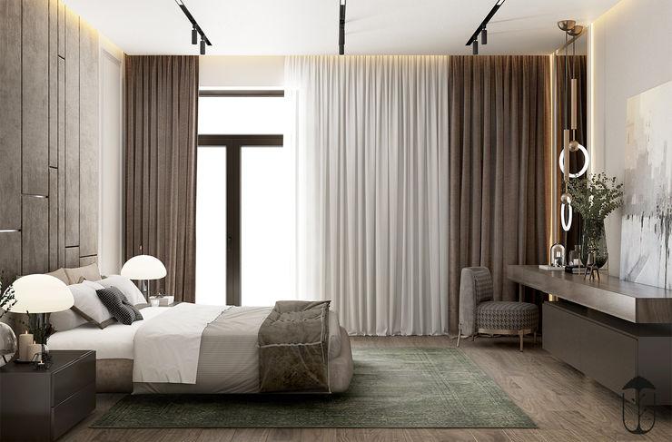 YOUSUPOVA Dormitorios de estilo ecléctico