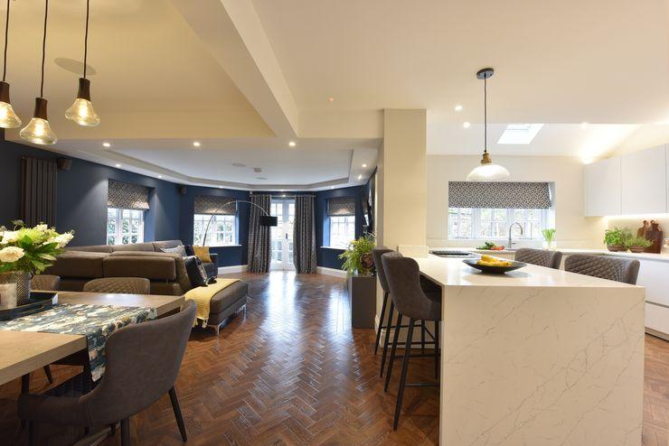 Mr & Mrs Tennant Diane Berry Kitchens Modern living room Quartz White