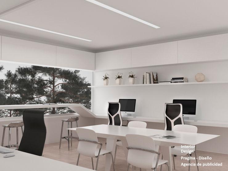 Pragma - Diseño Modern offices & stores White