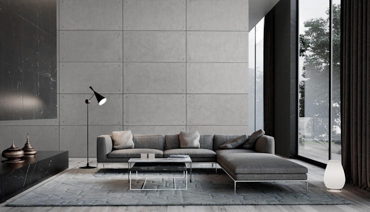 Loft Design System Deutschland - Wandpaneele aus Bayern Paredes y pisos de estilo industrial Concreto Gris