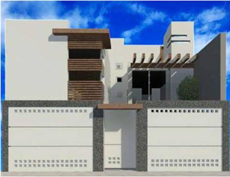 proyecto y render 8 AM INGENIERIA Casas de estilo minimalista