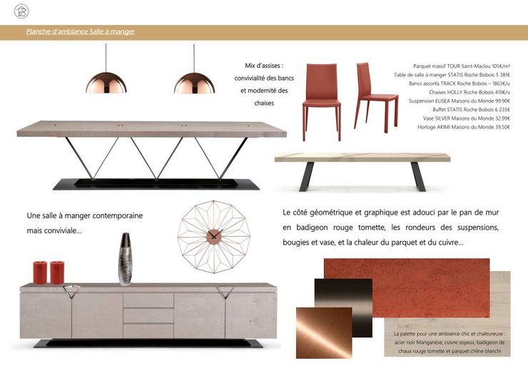 Réaménagement Maison de Campagne - Planche ambiance salle à manger ABCD MAISON Salle à mangerAccessoires & décorations