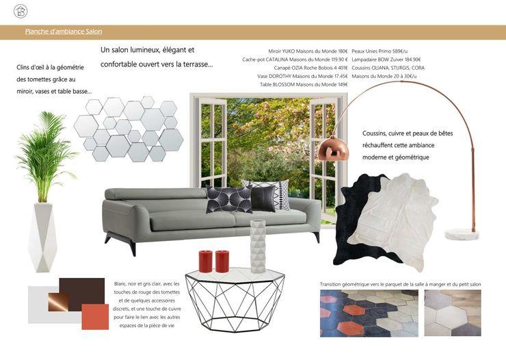 Réaménagement Maison de Campagne - Planche ambiance Salon ABCD MAISON SalonAccessoires & décorations