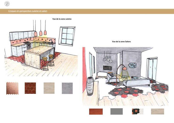 Réaménagement Maison de Campagne - Croquis d'ambiance ABCD MAISON MaisonAccessoires & décoration