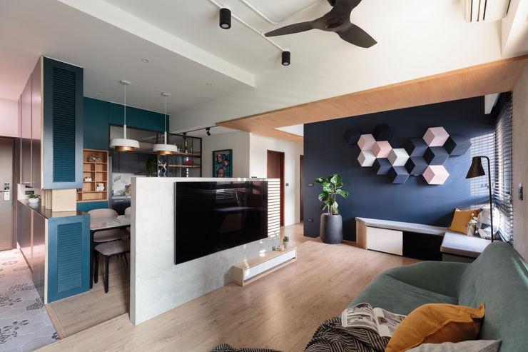 沉靜北歐宅 Moooi Design 驀翊設計 客廳