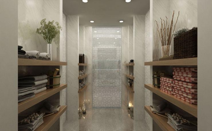 SPA Hall / Lake House Sia Moore Archıtecture Interıor Desıgn 浴室 大理石 Beige