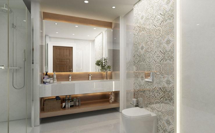 Bathroom / Lake House Sia Moore Archıtecture Interıor Desıgn 浴室 大理石 Beige
