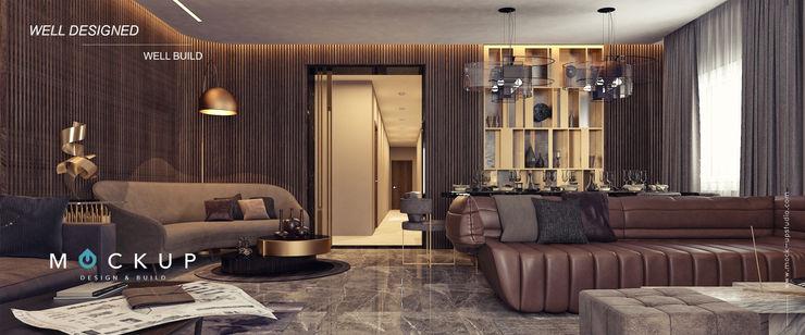 Mockup studio Гостиная в стиле модерн