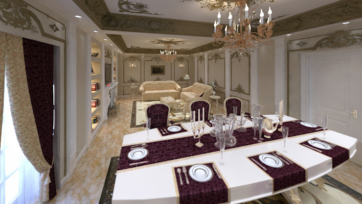lifestyle_interiordesign Classic style dining room Multicolored