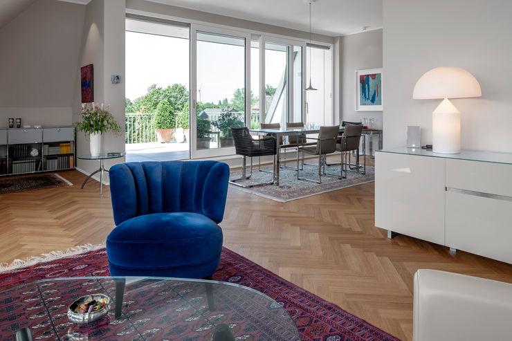 Hilger Architekten Salas/RecibidoresSofás y sillones Textil Azul