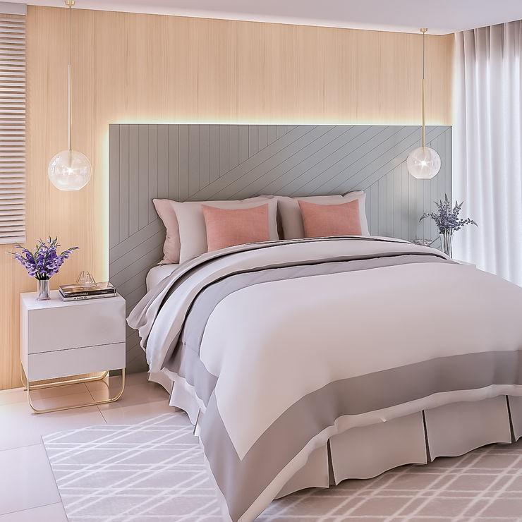Ana Julia Tavares Arquitetura e Interiores Modern style bedroom