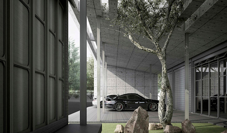 P911 Metaphor Design Studio โรงจอดรถ คอนกรีต Grey