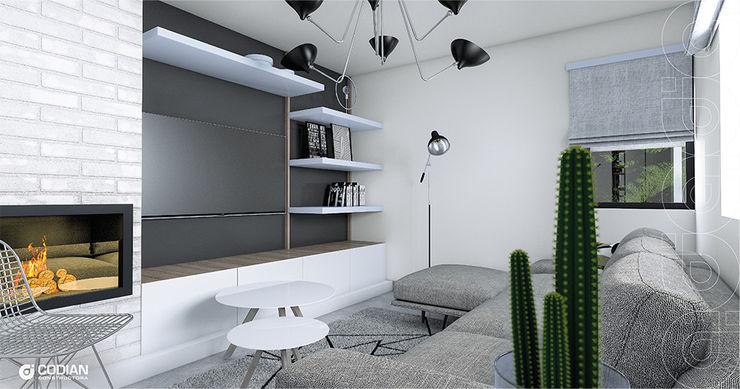 CODIAN CONSTRUCTORA Scandinavian style living room Grey
