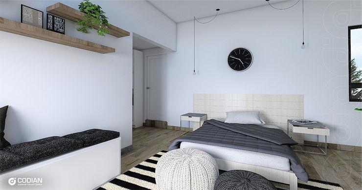 CODIAN CONSTRUCTORA Small bedroom Grey