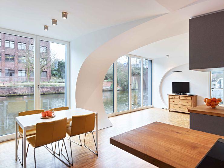 Hausboot Schwan - Norderkaiufer - Hamburg PlanWerk° Architektur & Energieberatung Wickersheim Mannsfeld PartG mbB Ausgefallene Esszimmer