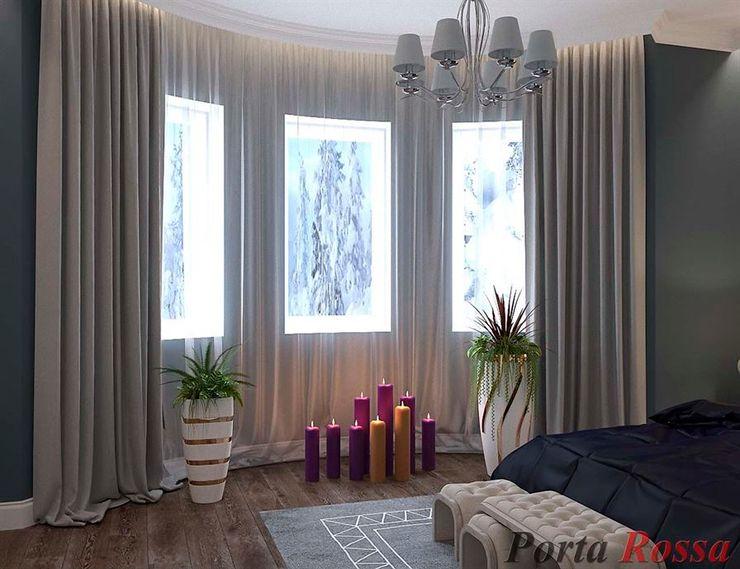 Приватный будинок в с. Забір'я Дизайн студія 'Porta Rossa' Спальня