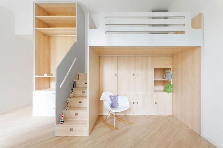 Arredo su misura per cameretta bambini PLUS ULTRA studio Cameretta Legno Effetto legno
