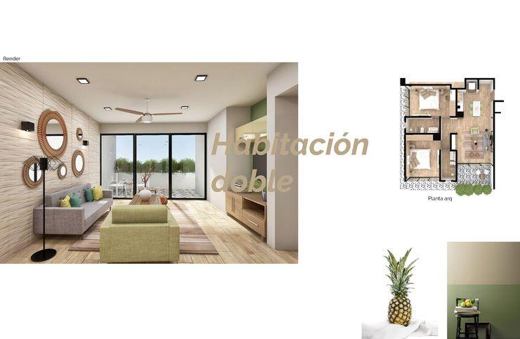 Opal Suites, Playa del Carmen Andrea Loya Dormitorios tropicales
