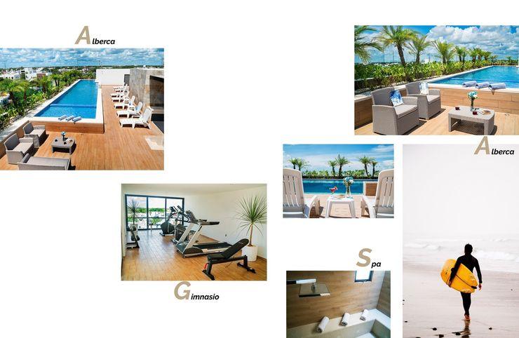 Opal Suites, Playa del Carmen Andrea Loya Gimnasios domésticos tropicales