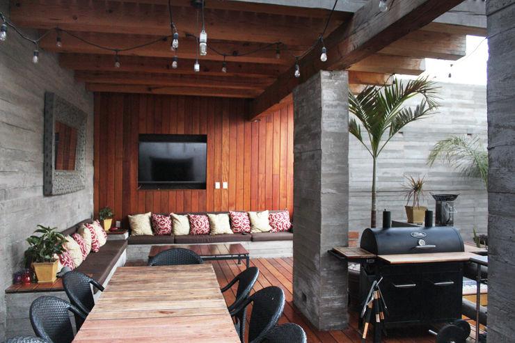 Remodelación - Terraza HB Rios Serna Arquitectos Balcones y terrazas minimalistas