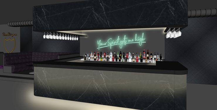 Club Interior - Bar Visualisierung Kaldma Interiors - Interior Design aus Karlsruhe