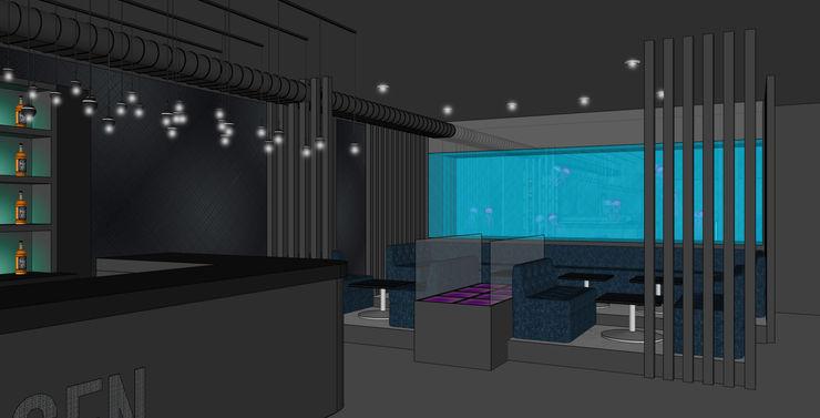 Club Interior - Loungebereich Visualisierung Kaldma Interiors - Interior Design aus Karlsruhe