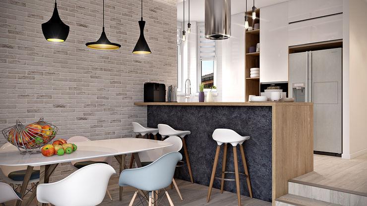Дизайн проект Дуплексу в Скандинавському стилі в с. Гатне (137 кв. м) Artlike Кухня