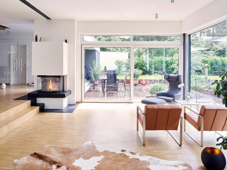 Wohnen seyfarth stahlhut architekten bda PartGmbB Moderne Wohnzimmer Holz Weiß