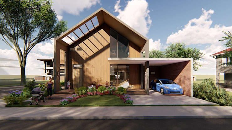 Facade Structura Architects Single family home Wood effect
