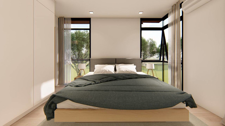2-Storey Scandinavian-Inspired Residence Structura Architects Small bedroom Wood effect