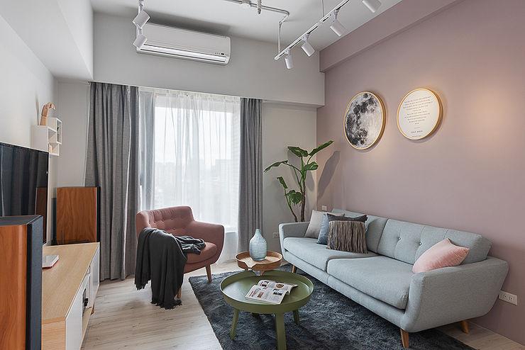 微甜莫蘭迪 知域設計 客廳