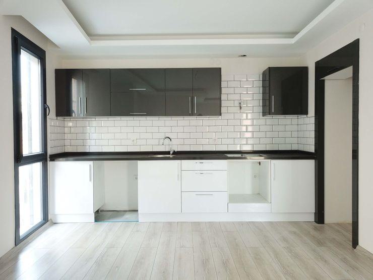 Özder Apartman Orby İnşaat Mimarlık Küçük Mutfak Granit Siyah