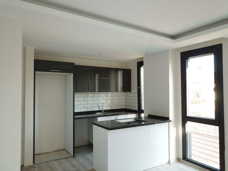 Özder Apartman Orby İnşaat Mimarlık Modern Oturma Odası Mermer Siyah