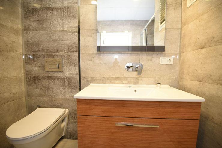 Locaefes Projesi, B Tip daire banyosu Orby İnşaat Mimarlık Modern Banyo Granit Bej