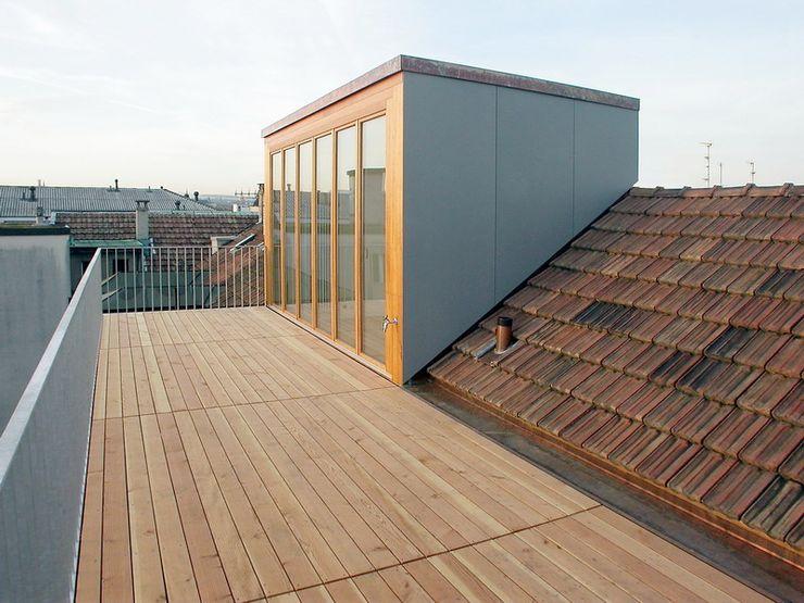 Mehrfamilienhaus Breisacherstrasse Basel Ave Merki Architekten Dachterrasse Ziegel