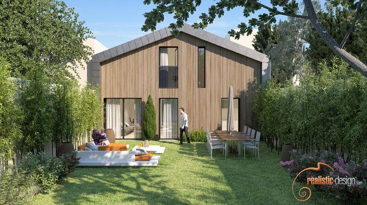 Render 3D - House view Realistic-design Casas unifamilares