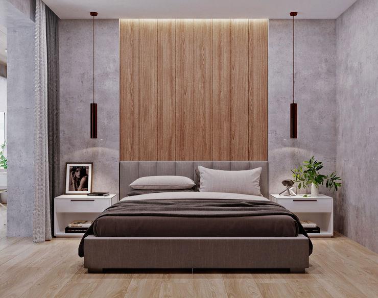 З двух в одну 'EDS' Exclusive Design Solutions Спальня Сірий