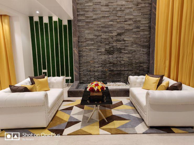 Enrich Interiors & Decors Moderne Wohnzimmer Grau