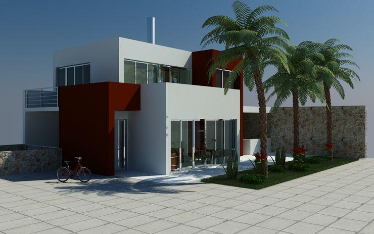 MEF Architect Villa Glas Weiß