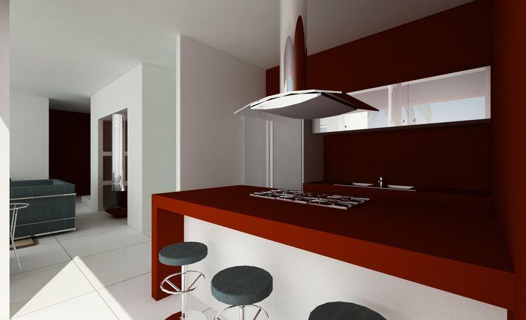 MEF Architect Küchenzeile Schiefer Rot