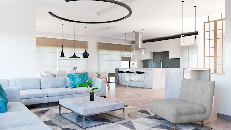 CODIAN CONSTRUCTORA Ruang Keluarga Modern