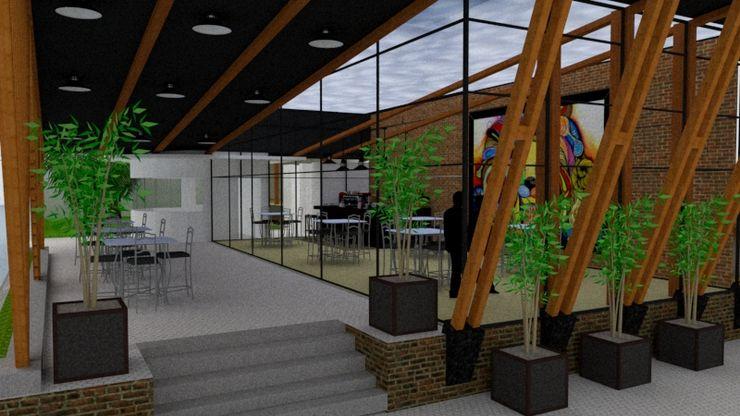 STUDIO SPECIALE - ARQUITETURA & INTERIORES Modern Terrace Wood Transparent